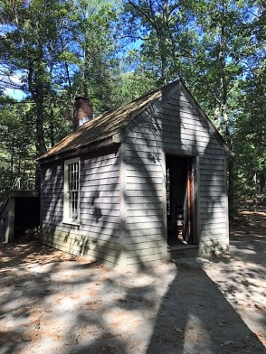 Replica of Thoreau's cabin, located a short distance away from the visitor center.